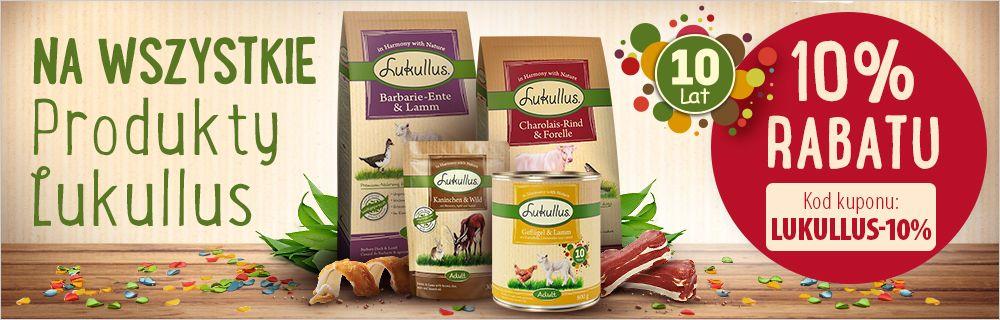 Zooplus: 10% zniżki na wszystkie produkty marki Lukullus