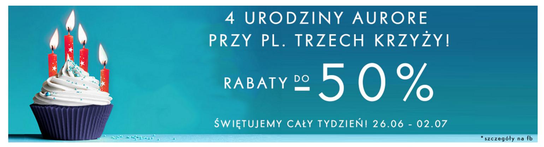 Aurore: do 50% rabatu na oryginalne okulary przeciwsłoneczne i korekcyjne marki RAY-BAN z okazji 4 urodzin Aurore