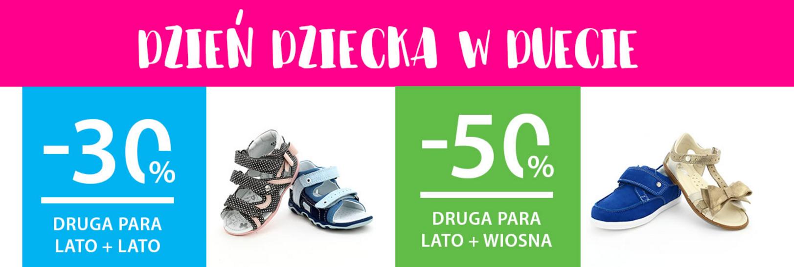 Bartek: 30% lub 50% rabatu na drugą parę obuwia z okazji Dnia Dziecka