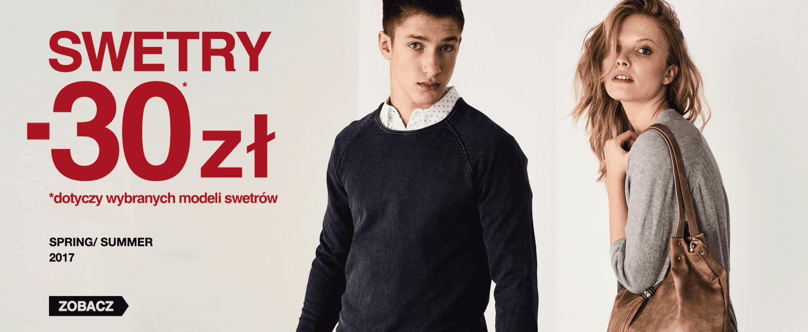 Big Star: rabat 30 zł na swetry damskie i męskie