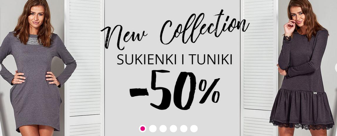 Butik: 50% zniżki na sukienki i tuniki