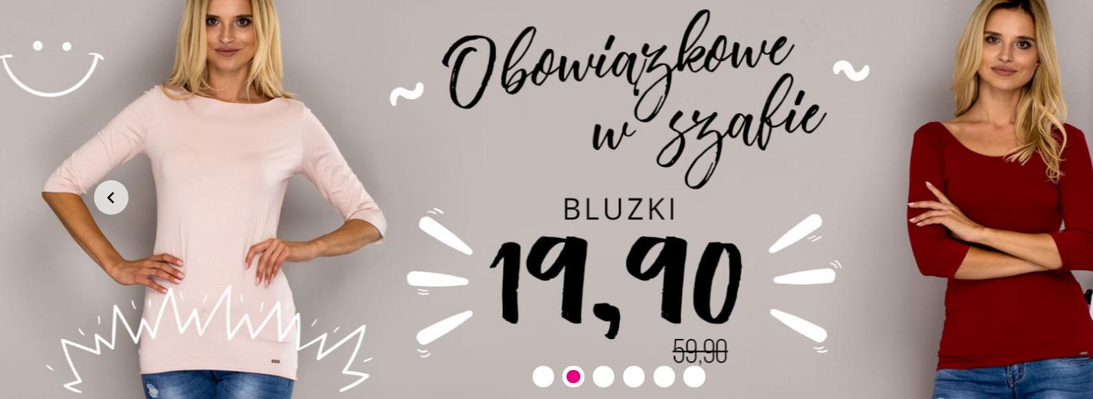 Butik: bluzki za 19,90 zł