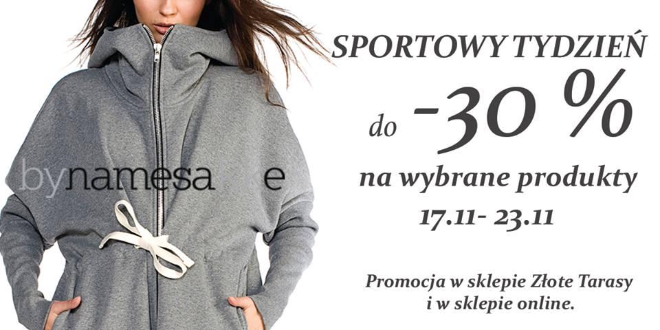 Sportowy Tydzień w bynamesakke: do 30% zniżki