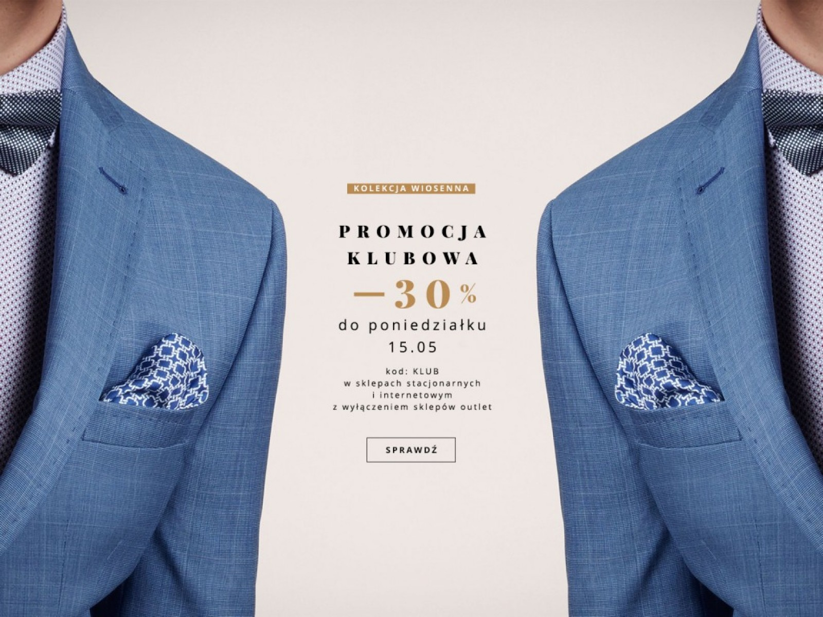 Bytom: 30% zniżki na wiosenną kolekcję odzieży męskiej