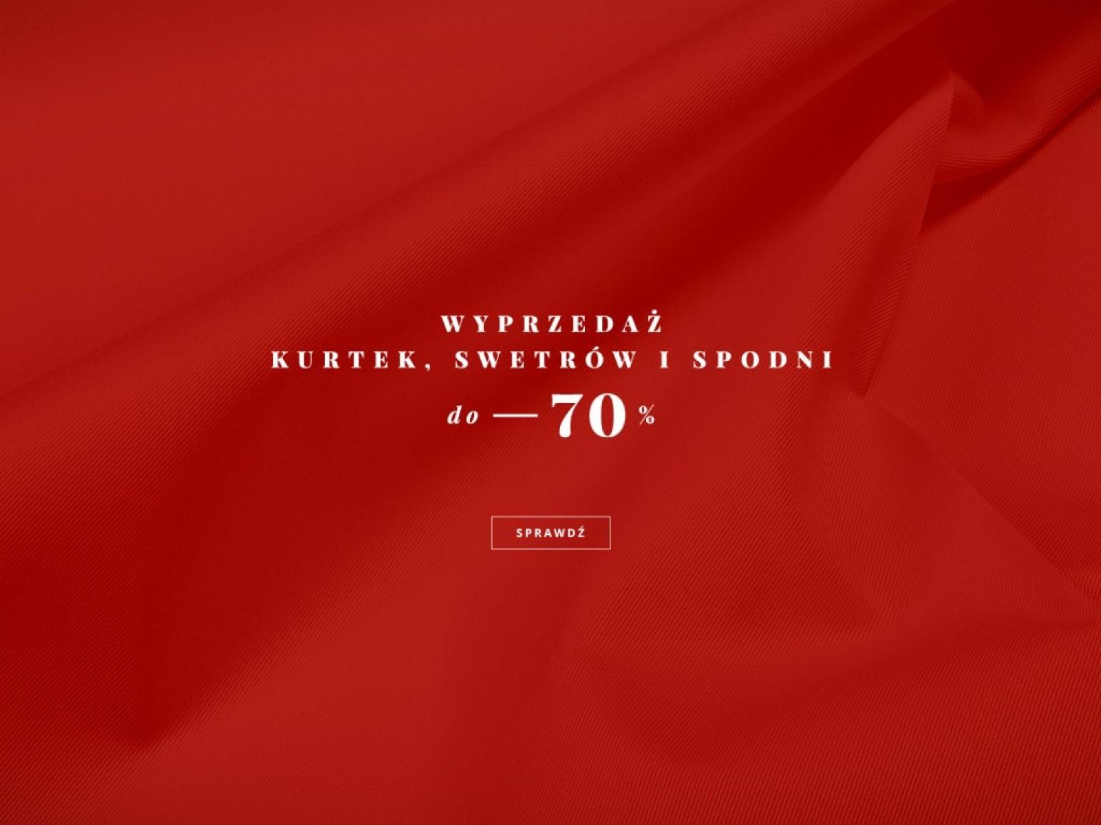 Bytom: wyprzedaż do 70% rabatu na kurtki, swetry i spodnie