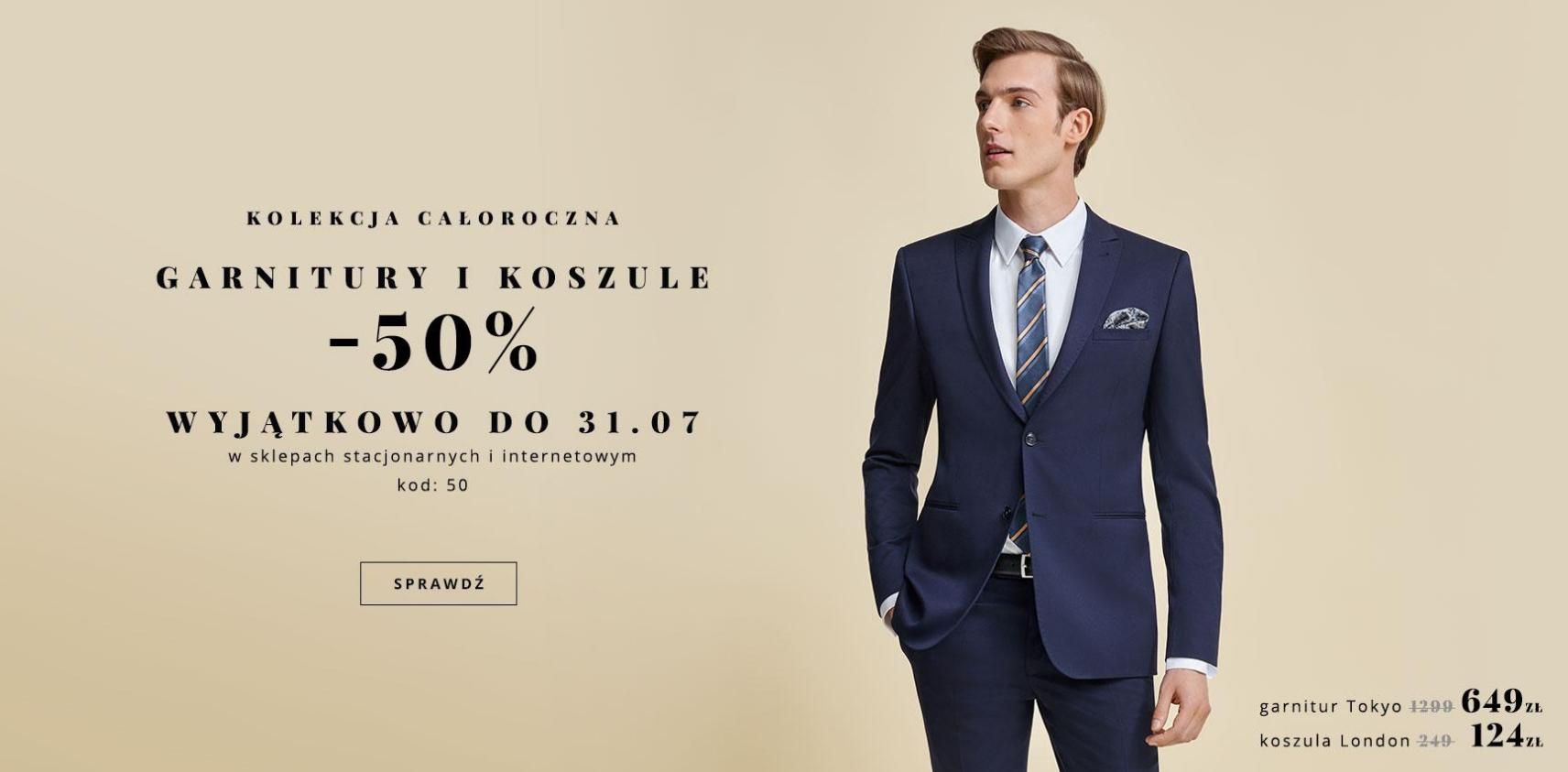Bytom: 50% rabatu na garnitury i koszule