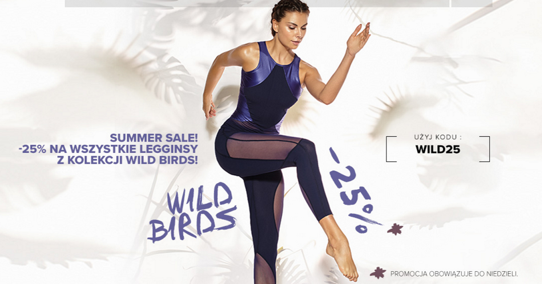 Cardio Bunny: 25% rabatu na wszystkie legginsy z kolekcji Wild Birds                         title=