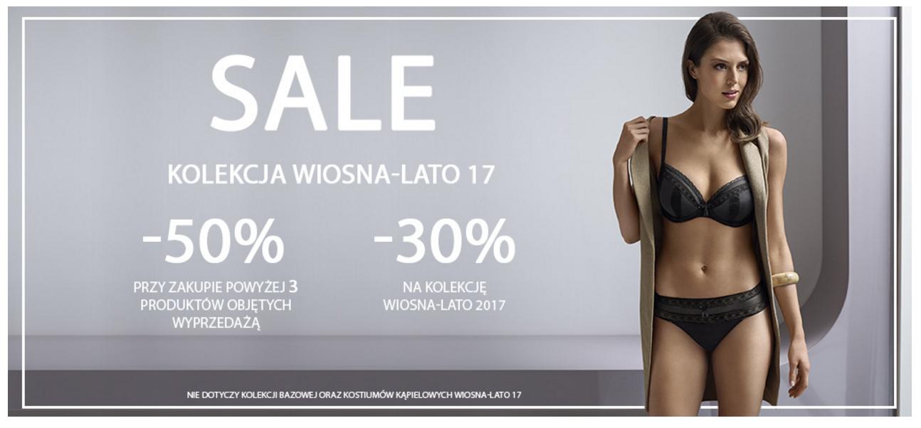 Change Lingerie: wyprzedaż 30% rabatu na kolekcję Wiosna/Lato 2017 oraz 50% zniżki przy zakupie min. 3 produktów                         title=