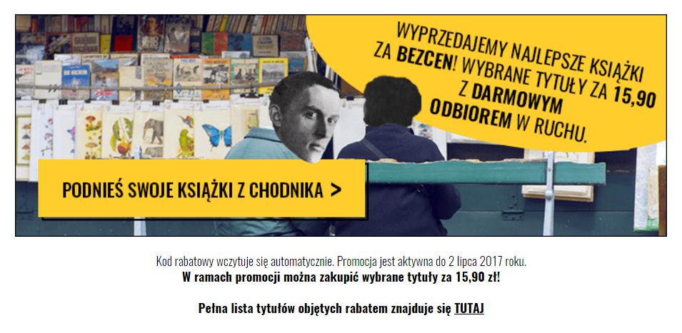 Chodnik Literacki: wybrane tytuły książek za 15,90 zł