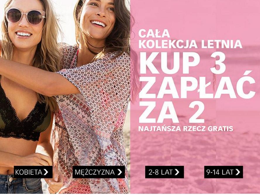Cubus: promocja na całą kolekcję letnią - kup 3 zapłać za 2