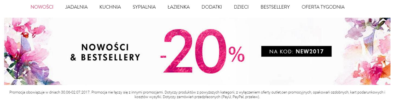 Deco Living: 20% rabatu na nowości i bestsellery
