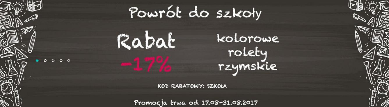 Dekoruj Online: 17% zniżki na kolorowe rolety rzymskie                         title=