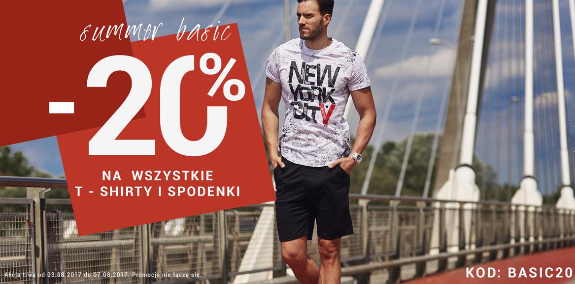 Denley: 20% zniżki na wszystkie t-shirty i spodenki