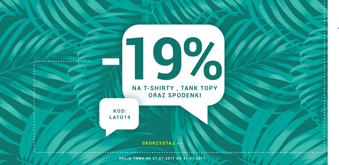 Denley: 19% rabatu na t-shirty, tank topy oraz spodenki