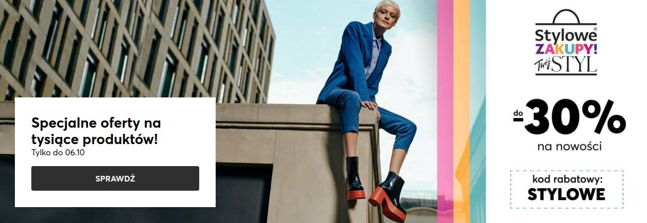 Eobuwie: do 30% zniżki na buty damskie, męskie i dziecięce oraz torebki i akcesoria                         title=