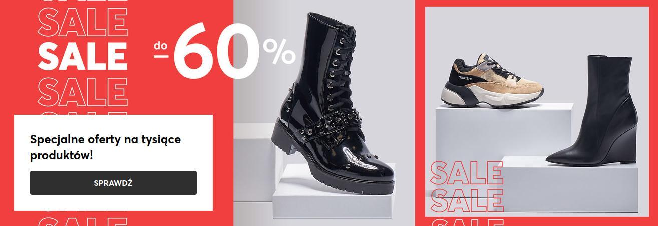 Eobuwie: wyprzedaż do 60% zniżki na obuwie damskie, męskie oraz dziecięce - jeszcze niższe ceny zimowych kolekcji