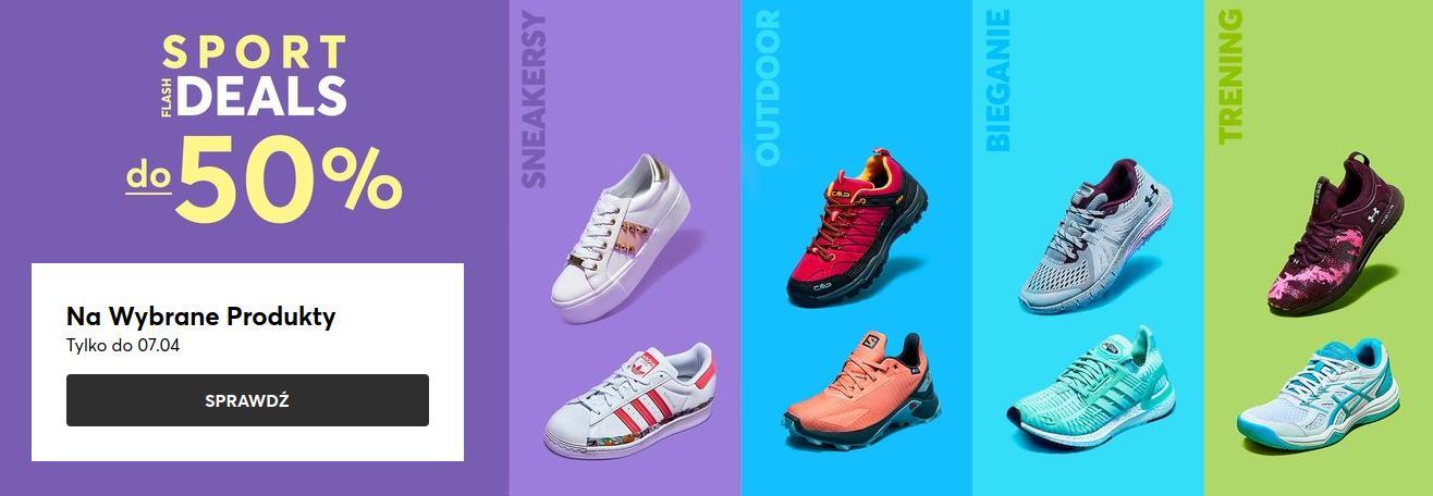 Eobuwie: do 50% rabatu na wybrane obuwie z kategorii sport i lifestyle