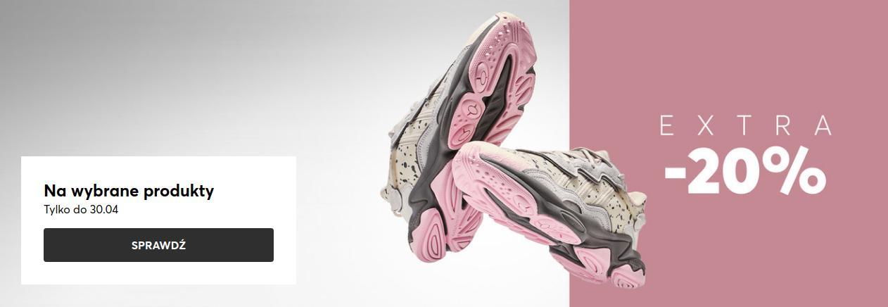 Eobuwie: dodatkowe 20% rabatu na buty damskie, buty męskie oraz buty dziecięce  - wybrane produkty