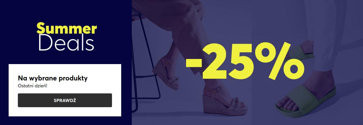 Eobuwie: 25% zniżki na obuwie damskie, męskie i dziecięce oraz torebki - wybrane modele
