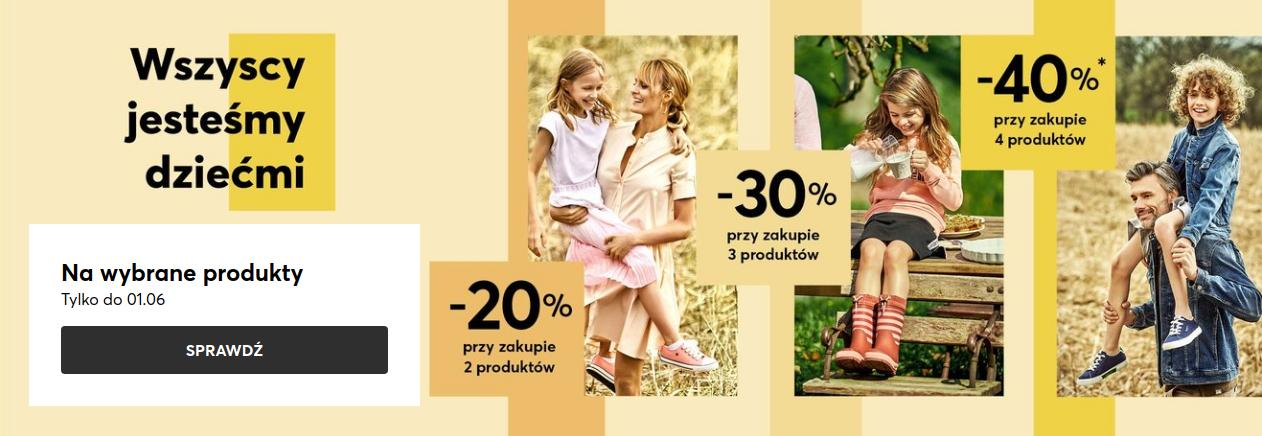 Eobuwie: do 40% zniżki na buty damskie, męskie oraz dziecięce - promocja na Dzień Dziecka