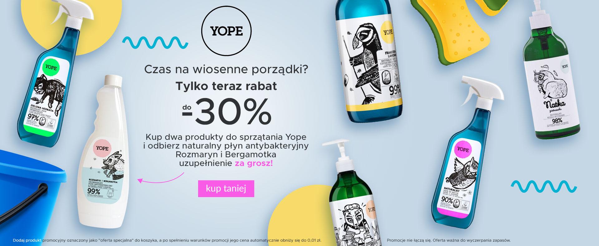 Ezebra Ezebra: do 30% zniżki na kosmetyki naturalne marki Yope oraz prezent