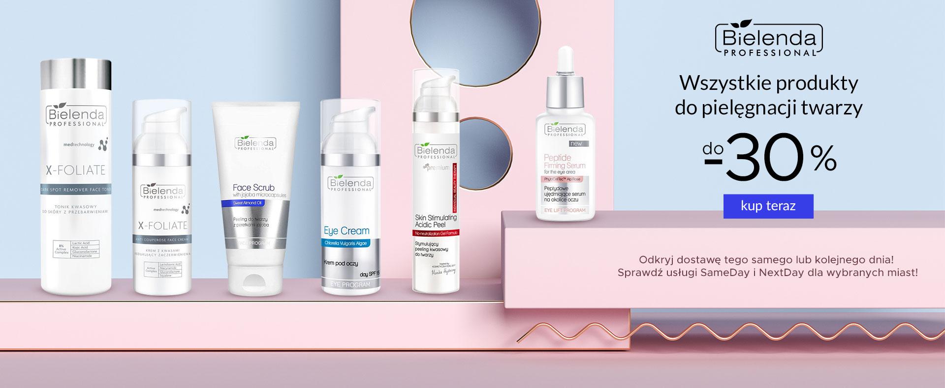 Ezebra Ezebra: do 30% rabatu na wszystkie produkty do pielęgnacji twarzy marki Bielenda