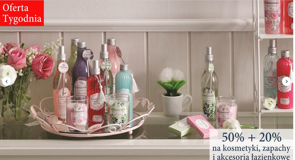 English Home: 50% + 20% rabatu na kosmetyki, zapachy i akcesoria łazienkowe