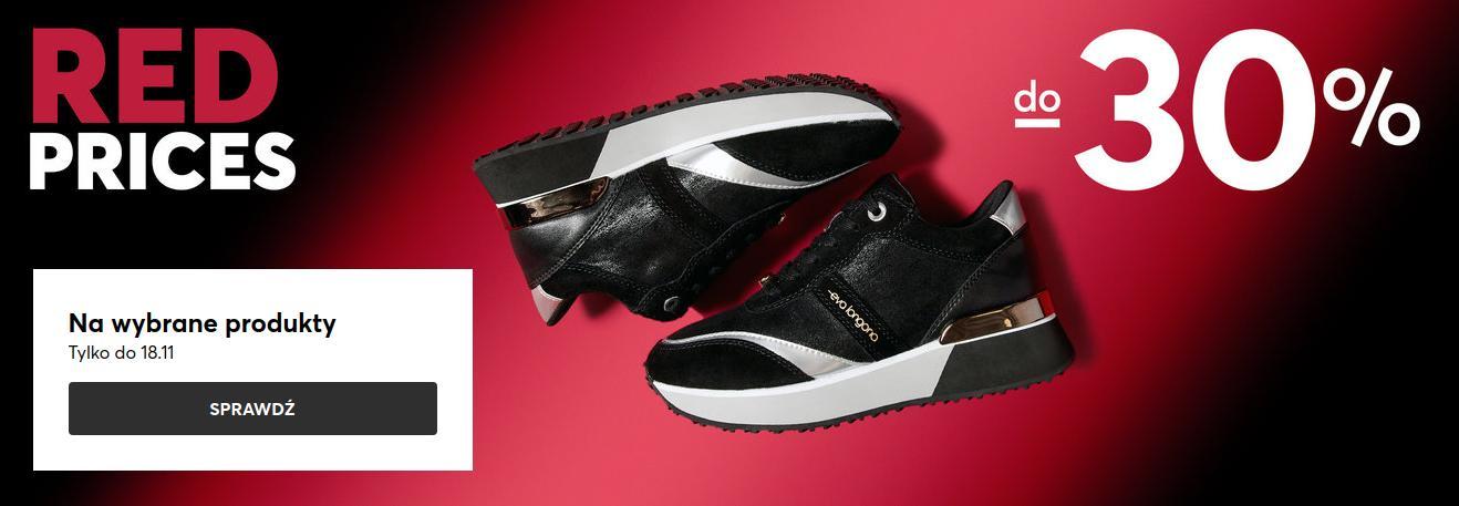 Eobuwie: Red Prices do 30% rabatu na obuwie damskie, męskie i dziecięce, akcesoria oraz torebki
