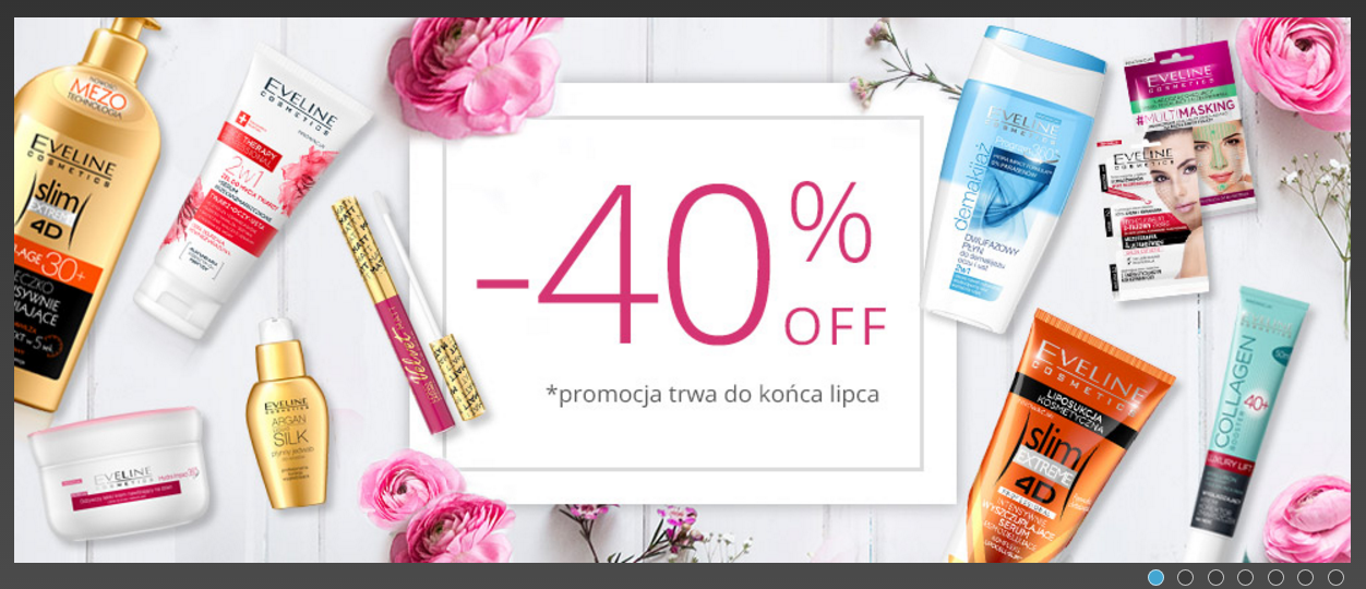 Eveline Cosmetics: 40% rabatu na kosmetyki