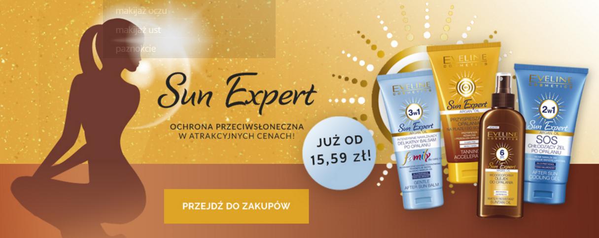 Eveline Cosmetics: kosmetyki do ochrony przeciwsłonecznej linii Sun Expert już od 15,59 zł