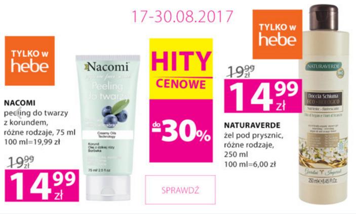 Hebe: do 30% rabatu na wybrane kosmetyki