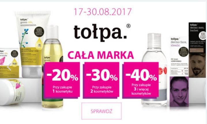 Hebe: do 40% zniżki na całą markę kosmetyków Tołpa                         title=