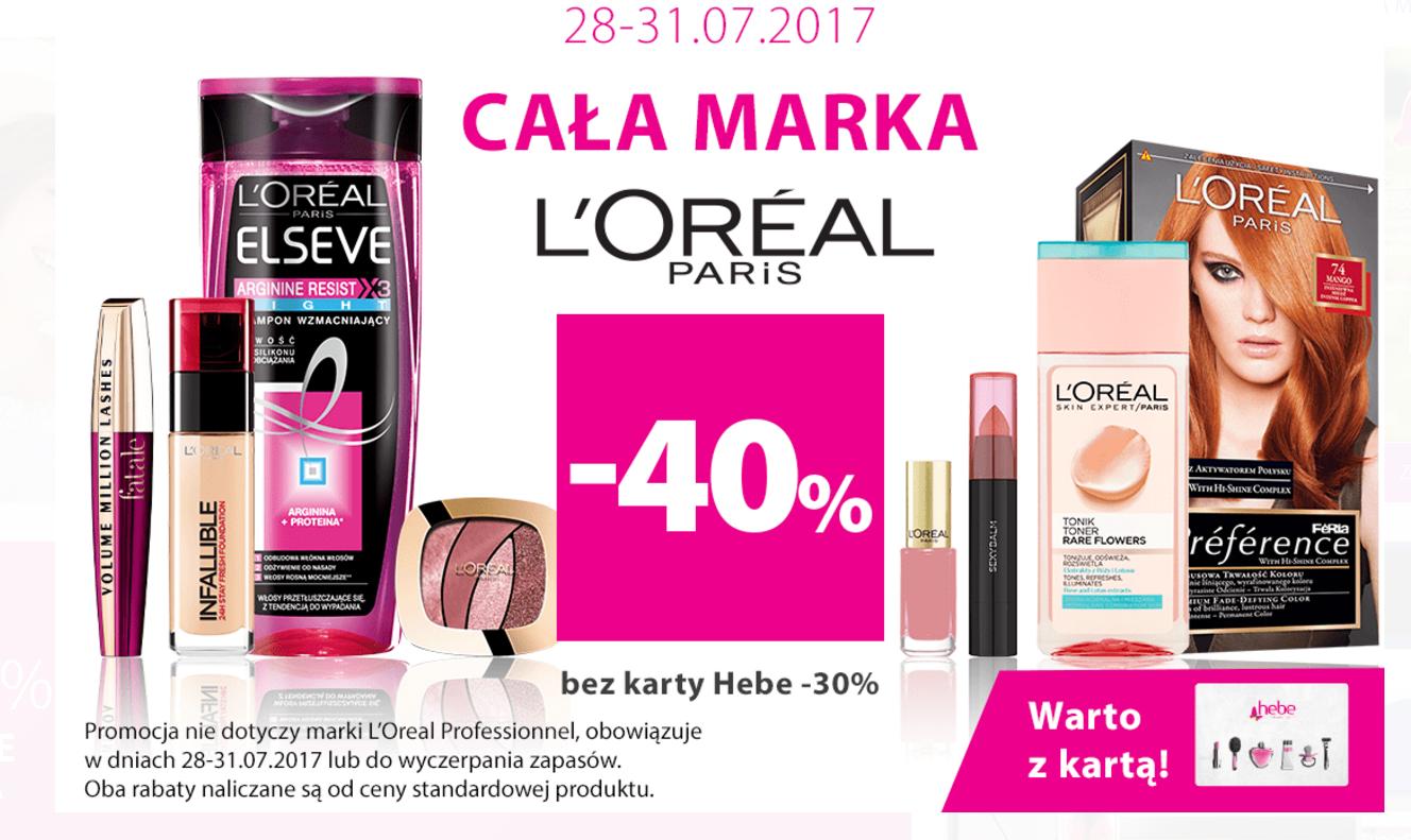 Hebe: do 40% rabatu na całą markę kosmetyków Loreal                         title=