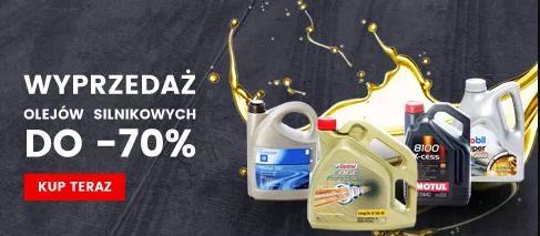 IParts: wyprzedaż do 70% zniżki na oleje silnikowe
