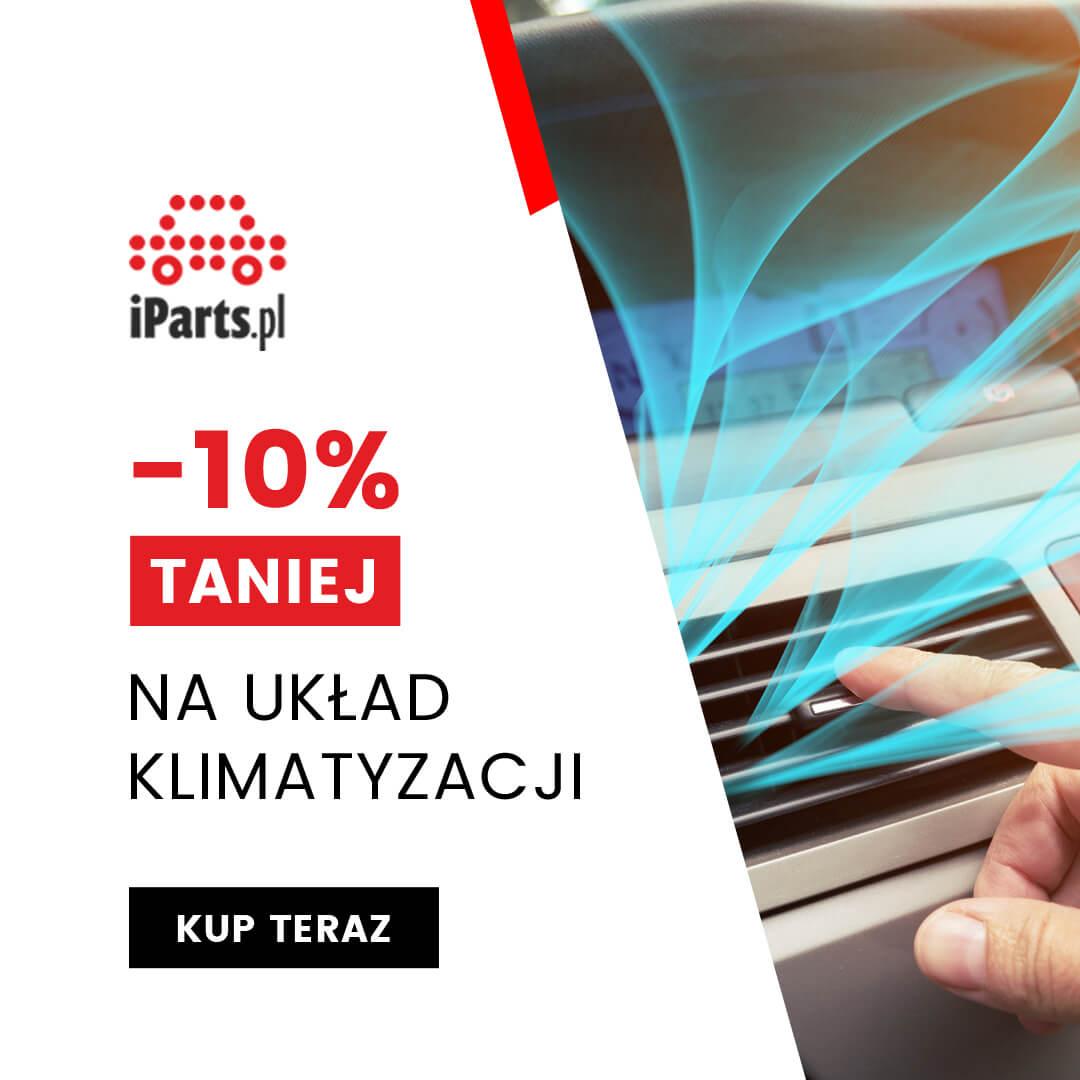 iParts IParts: 10% rabatu na układ klimatyzacji i chłodzenia przy zakupach za min. 99 zł