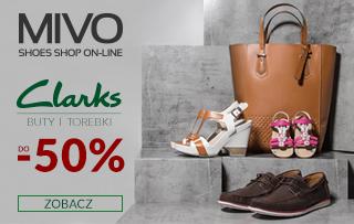 Mivo: do 50% zniżki na buty marki Clarks