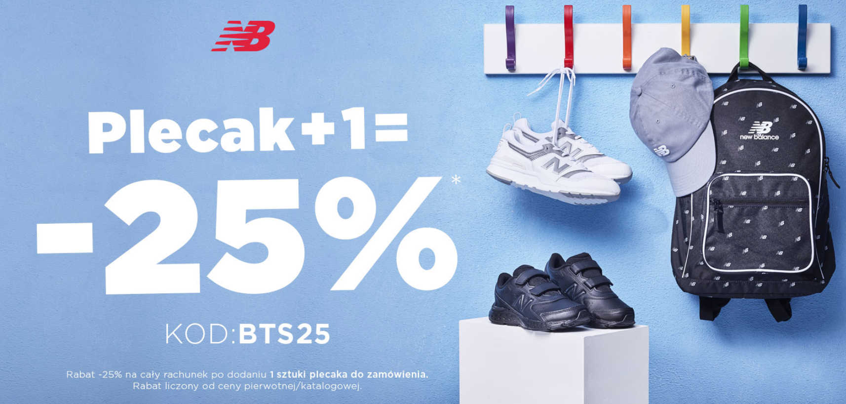 New Balance: 25% rabatu za 1+plecak