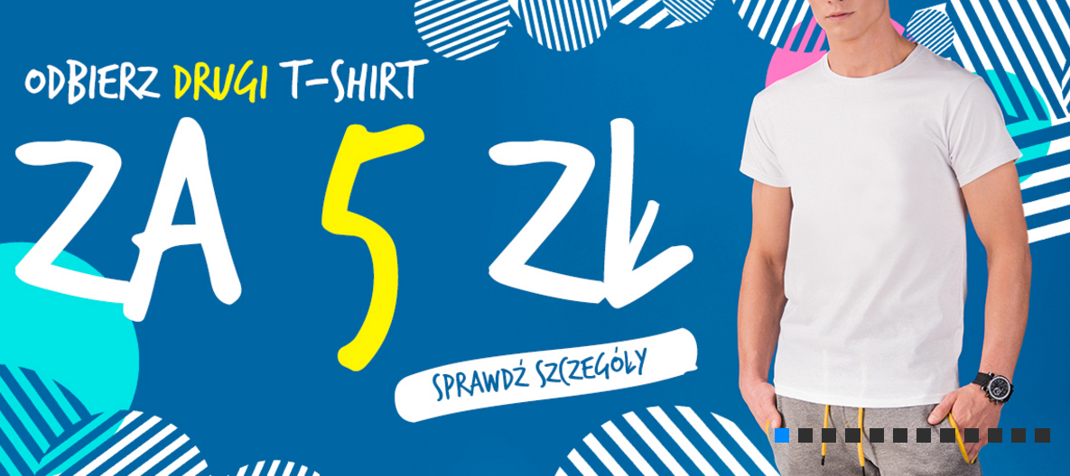 Ombre: drugi t-shirt za 5 zł