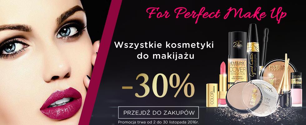 Eveline Cosmetics: 30% rabatu na wszystkie kosmetyki do makijażu