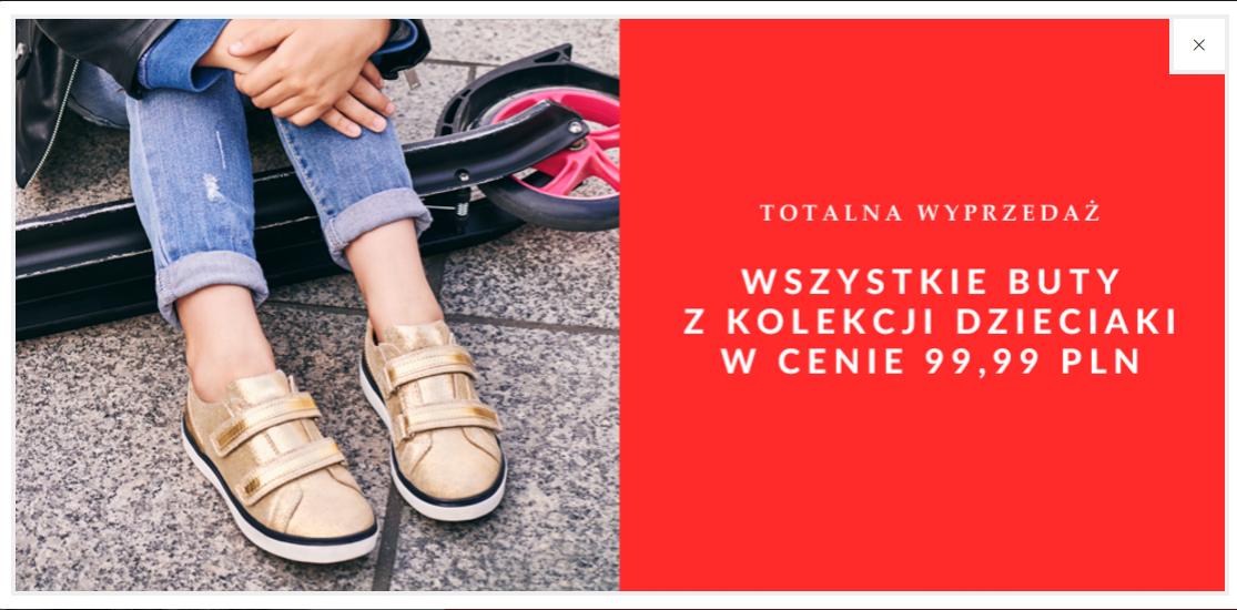 Ryłko: wszystkie buty z kolekcji dzieciaki w cenie 99,99 zł                         title=