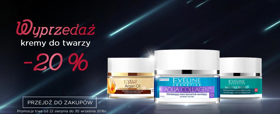Eveline Cosmetics: 20% zniżki na kremy do twarzy