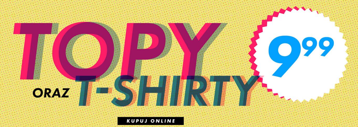 Sinsay: topy i t-shirty za 9,99 zł                         title=