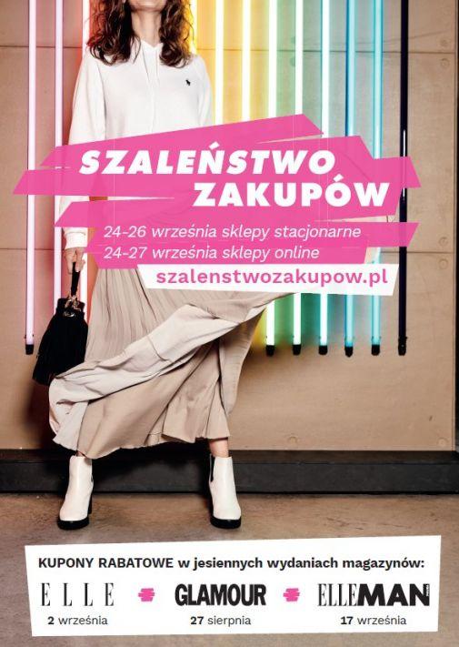 Weekend Zniżek wrzesień 2020 z Glamour, Elle oraz Elle Man - Szaleństwo Zakupów w całej Polsce 24-27 września 2020