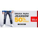 Ombre: 50% zniżki na drugą parę jeansów