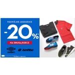 50Style: 20% zniżki na drugą rzecz z produktów marek Umbro i Lotto