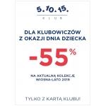5.10.15.: 55% zniżki dla klubowiczów na kolekcję wiosna-lato na Dzień Dziecka