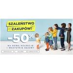 5.10.15.: Szaleństwo Zakupów 50% zniżki na nową kolekcję odzieży dziecięcej