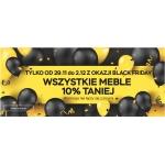 Abra Meble: Black Friday 10% zniżki na wszystkie meble