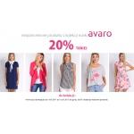 Avaro: 20% rabatu na produkty nieprzecenione
