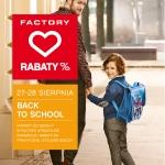 Factory kocha powroty do szkoły - weekend promocji 27-28 sierpnia 2016